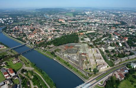 Apartamentos construidos en el centro de Cracovia